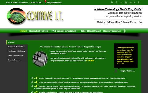 Screenshot of Home Page contrive-it.net - Contrive I.T. - captured Sept. 30, 2014