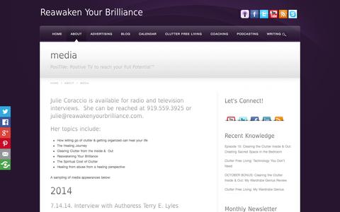 Screenshot of Press Page reawakenyourbrilliance.com - How to Heal Interviews - captured Oct. 29, 2014