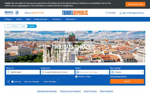 Cheap Holidays to Madrid 2017/2018 | Travel Republic