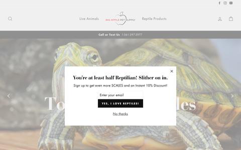 Screenshot of Home Page bigappleherp.com - Live Reptiles & Reptiles Supplies - Big Apple Pet Supply - captured Feb. 20, 2019