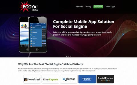 Screenshot of Home Page booyamedia.com - Booyamedia.com - Mobile Apps for iPhone, iPad, Android and HTML5 - captured Sept. 23, 2015