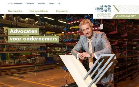 Screenshot of Home Page Site Map Page lvh-advocaten.nl - Advocaten voor ondernemers - Leeman Verheijden Huntjens Advocaten voor ondernemers omgeving Rotterdam - captured Nov. 27, 2016