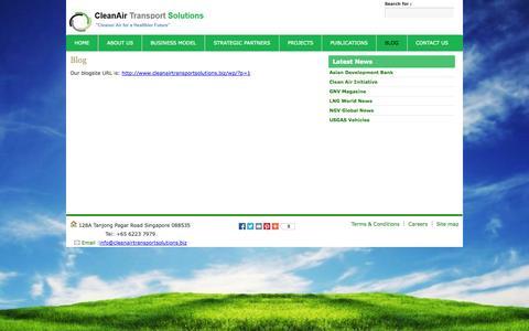 Screenshot of Blog cleanairtransportsolutions.biz - Blog - captured Oct. 2, 2014