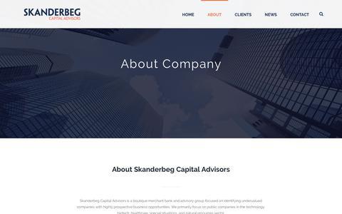 Screenshot of About Page skanderbegcapital.com - About - Skanderbeg Capital - captured Oct. 19, 2018