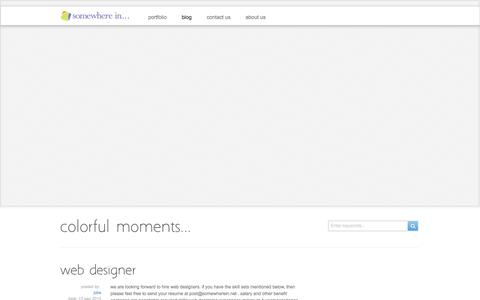 Screenshot of Blog somewherein.net - colorful moments ‹ colorful moments - captured Oct. 26, 2014