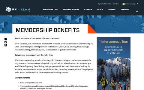 Screenshot of Signup Page skiutah.com - Membership Benefits        -       Ski Utah - captured Aug. 14, 2016
