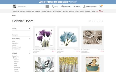 Powder Room, Posters and Prints at Art.com