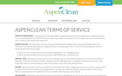 Terms and Conditions - AspenClean