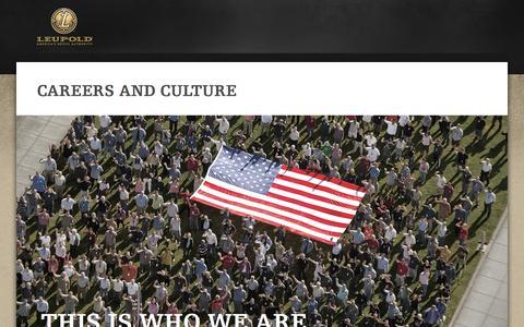 Screenshot of Jobs Page leupold.com - Leupold Careers - captured Sept. 23, 2014