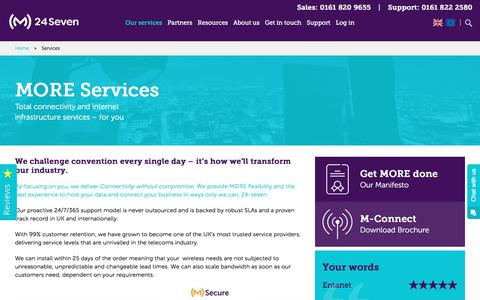 Screenshot of Services Page m247.com - Services Archive - M24Seven - captured June 24, 2017