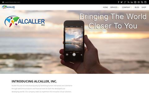 Screenshot of Home Page alcaller.com - |  Making Far Away… Feel Closer - captured July 25, 2016