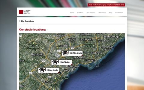 Screenshot of Locations Page perfectimagegroup.com - Film Studios in TorontoCorporate Video Production In Toronto – Perfect Image Group - captured Sept. 29, 2014