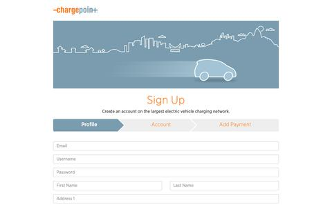 Screenshot of Signup Page chargepoint.com - ChargePoint - captured Oct. 26, 2018