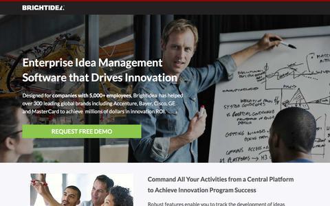 Screenshot of Landing Page brightidea.com - Brightidea Idea Management Software - captured July 12, 2017