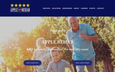 Screenshot of Home Page apple-rehab.com - Apple Rehab - captured June 4, 2019