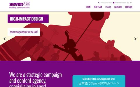 Screenshot of Home Page seven46.com - Home - Seven46 - captured Oct. 9, 2014