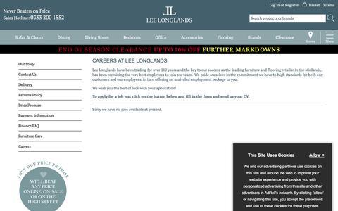 Screenshot of Jobs Page leelonglands.co.uk - Careers - Lee Longlands - captured Sept. 22, 2018