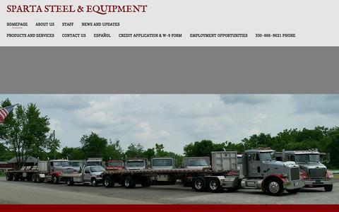 Screenshot of Home Page spartasteel.com - Sparta Steel & Equipment - captured Feb. 2, 2016