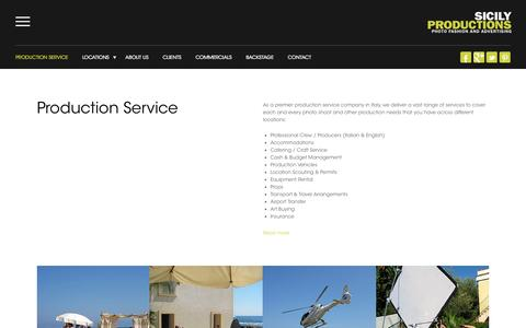 Screenshot of Services Page sicilyproductions.com - Production Service - Sicily Productions - captured Oct. 26, 2014