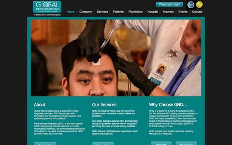 Screenshot of Home Page globalneuro.net - Global Neuro-Diagnostics - captured Aug. 9, 2017