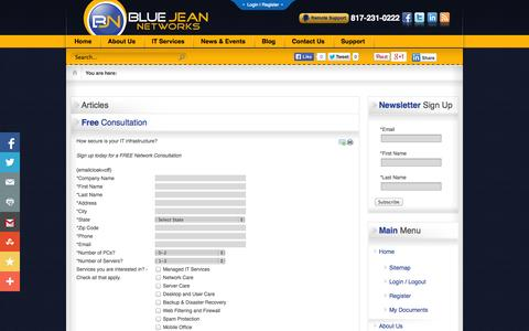 Screenshot of Signup Page bluejeannetworks.com - Fort Worth, Texas | Blue Jean Networks | Fort Worth, Texas | Blue Jean Networks - captured Sept. 30, 2014