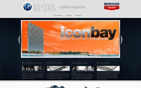 Screenshot of Home Page binterinternacional.com - :: Binter Internacional - BINTER INTERNACIONAL :: - captured Oct. 5, 2014