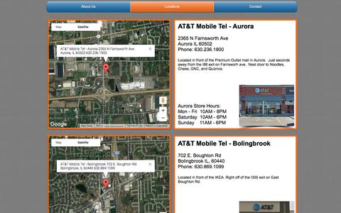 Screenshot of Locations Page mobiletelltd.com - AT&T Mobile Tel - Locations - captured Sept. 16, 2017
