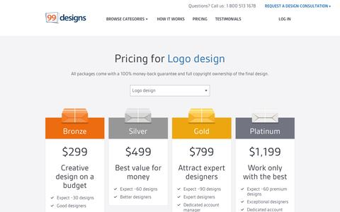 Screenshot of Pricing Page 99designs.com - Pricing | 99designs - captured Sept. 10, 2014