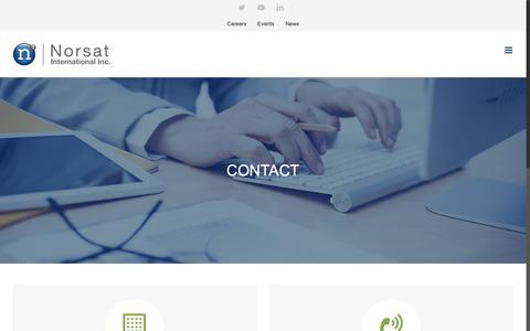 Screenshot of Contact Page norsat.com - Contact Norsat | Norsat International Inc - captured Oct. 18, 2018