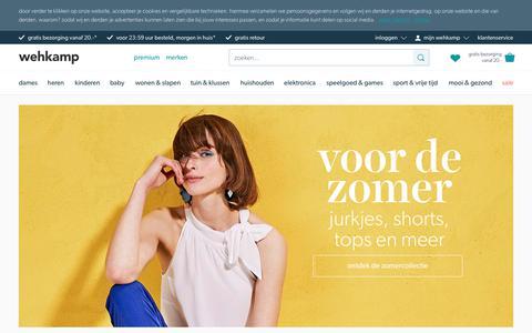 Screenshot of Home Page wehkamp.nl - wehkamp - meer tijd voor elkaar - captured May 8, 2018