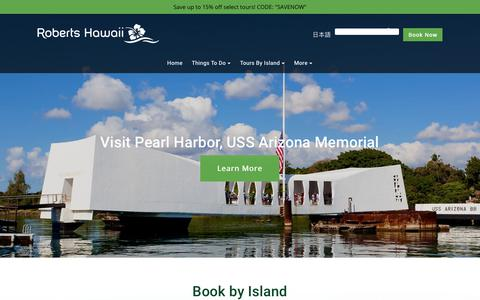 Screenshot of Home Page robertshawaii.com - Roberts Hawaii - Guided Tours, Activities, Excursions - captured Sept. 21, 2018