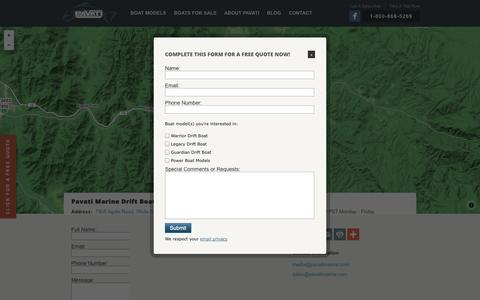 Screenshot of Contact Page pavatimarine.com - Pavati Marine - Contact a Sales Representative - captured Sept. 30, 2014