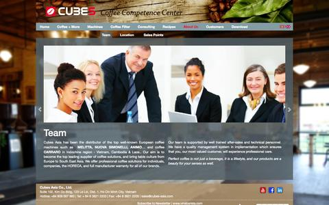 Screenshot of About Page cubes-asia.com - Cubes Asia - About Us - captured Nov. 1, 2014