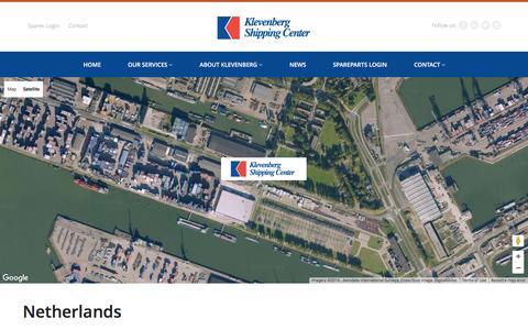Screenshot of Contact Page klevenberg.com - Netherlands - Klevenberg Shipping Center - captured Feb. 12, 2016
