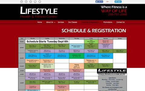 Screenshot of Signup Page lifestylehealthandfitness.com - Affordable Membership Nanaimo | Schedule & Registration | Lifestyle Health & Fitness - captured Nov. 9, 2016