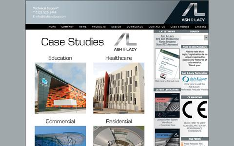 Screenshot of Case Studies Page ashandlacy.com - Case Study Selector - Ash & Lacy Building Systems - captured Nov. 21, 2016