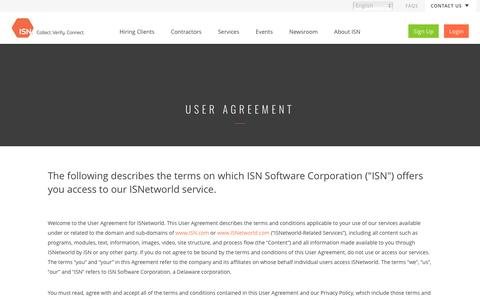 User Agreement | ISN
