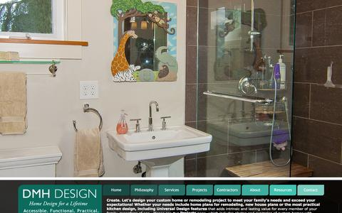 Screenshot of Home Page dmhdesign.net - DMH Universal and Accessible Home Design - captured Feb. 8, 2016