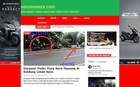 Screenshot of Home Page bonsaibiker.com - BonsaiBiker.Com | Blog Otomotif: MotoGP Motor Mobil Harga Pajak Modifikasi - captured Nov. 8, 2018