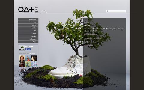 Screenshot of Press Page oatshoes.com - Press :: OAT Shoes | Shoes that bloom - captured Oct. 8, 2014