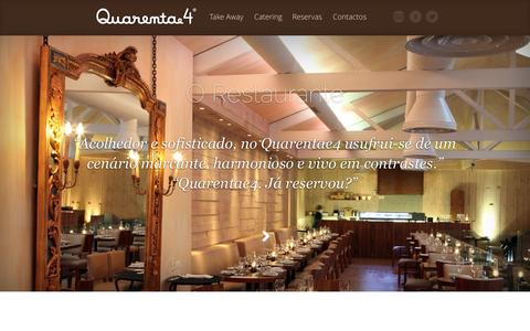Screenshot of Home Page quarentae4.pt - Quarenta e 4 | Restaurante Matosinhos - captured Oct. 6, 2014