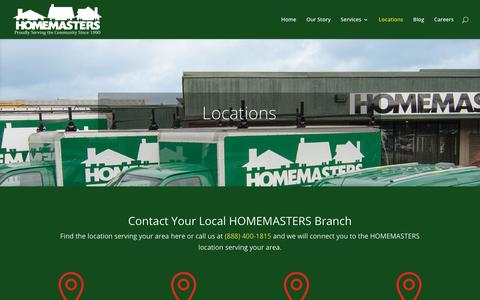 Screenshot of Locations Page homemasters.com - Locations | HOMEMASTERS - captured Aug. 26, 2017