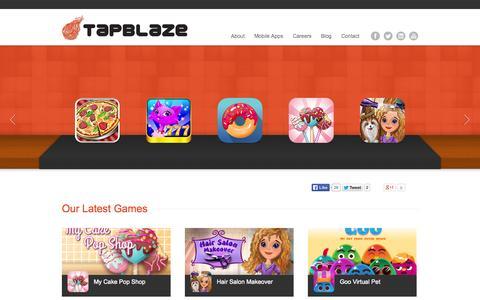 Screenshot of Home Page tapblaze.com - TapBlaze | Mobile Entertainment Apps - captured Sept. 17, 2014