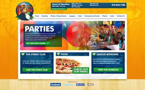 Screenshot of Home Page jewelcitybowl.com - Jewel City Bowl - captured Sept. 30, 2014