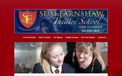 Screenshot of Home Page sets.org.uk - SETS Performing Arts Stage School Barnet - captured Oct. 10, 2015