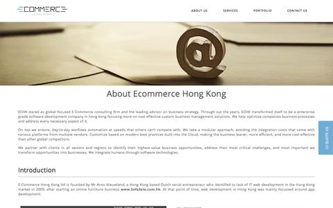 Screenshot of About Page e-commerce-hongkong.com - Enterprise Grade Custom Software Development Company and Fintech Solutions - captured March 12, 2017