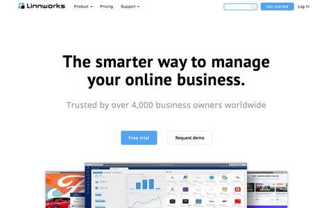Screenshot of Home Page linnworks.com - Linnworks | Order Management Software - captured March 24, 2018
