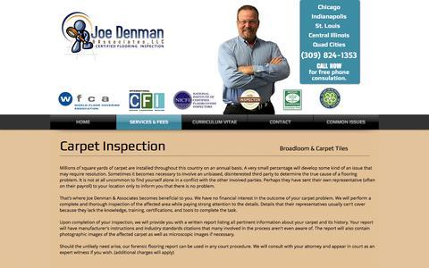 Screenshot of Services Page joedenman.com - Joe Denman & Associates | SERVICES & FEES - captured Nov. 27, 2016