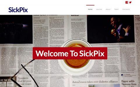 Screenshot of Home Page sickpix.com - SickPix | Community Journal - captured Oct. 9, 2014