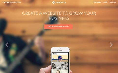 Screenshot of Home Page mobsyte.com - Create website | Home | Mobsyte - captured Feb. 18, 2016